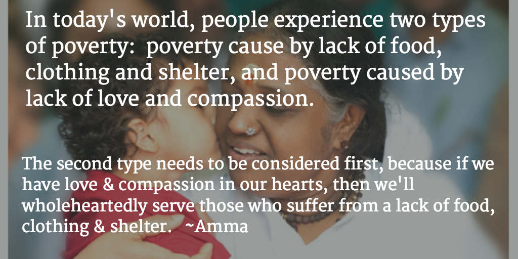 Can We Be Wealthy & Yet Still Suffer from Poverty? (A Quote by Amma, Indian Spiritual Teacher)