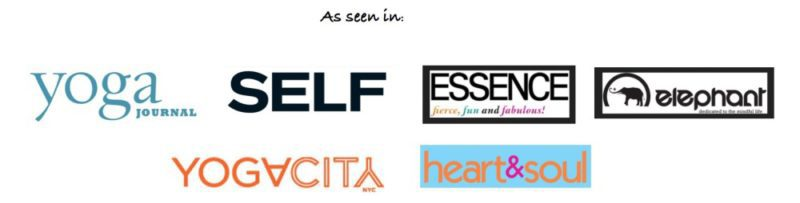 Logos of Magazines that featured Massage Therapist in Ithaca